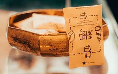 Image protection réutilisable Drink Watch